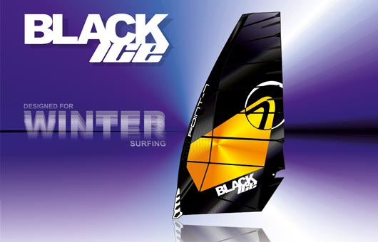 Ice Board sail from Point-7 – Black Ice
