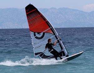 Jonas Windsurfing at PRO Center Rhodes
