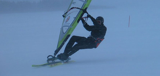 Windsurfing on ice